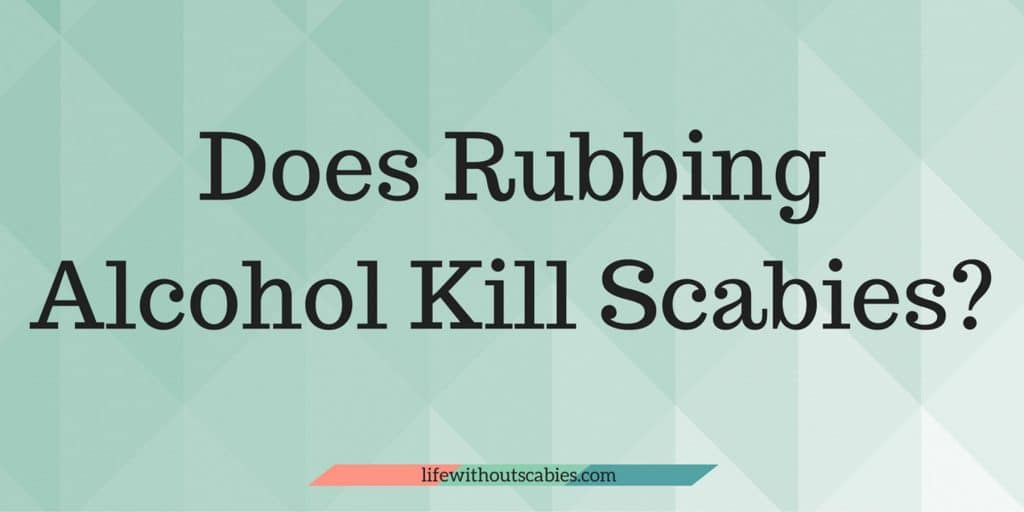does rubbing alcohol kill scabies?