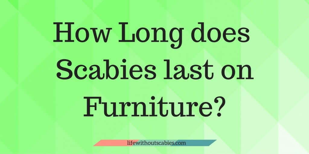 how long does scabies last on furniture